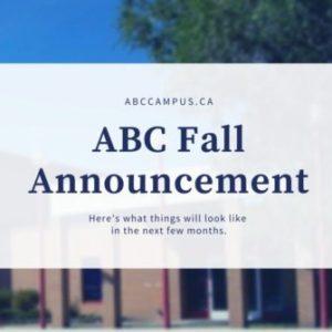 ABC COVID Fall Announcement